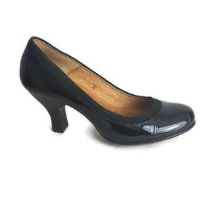 Sofft Pumps Black Patent Leather Womens 7.5M